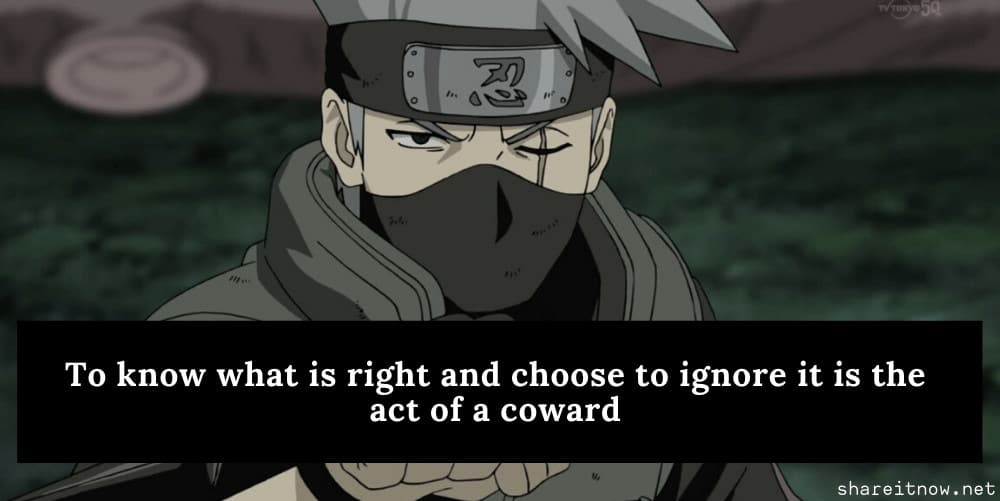 kakashi quotes