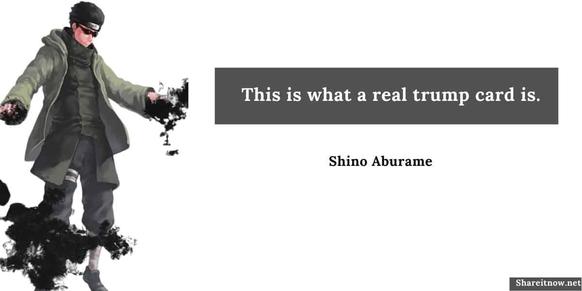 Shino Aburame quotes