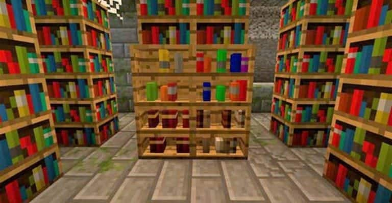 How to make a library in Minecraft