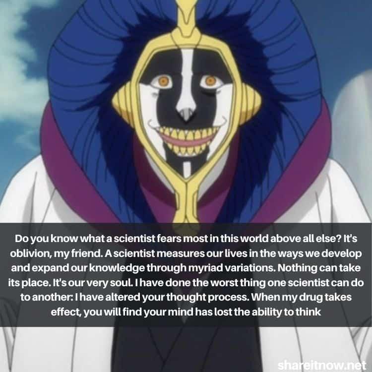 Kurotsuchi Mayuri quotes
