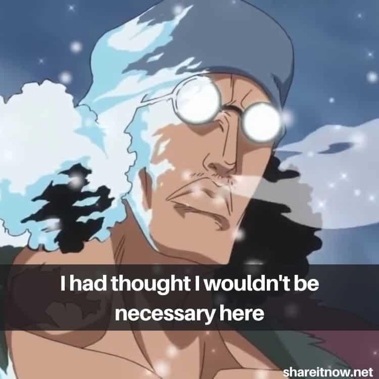 aokiji kuzan quotes