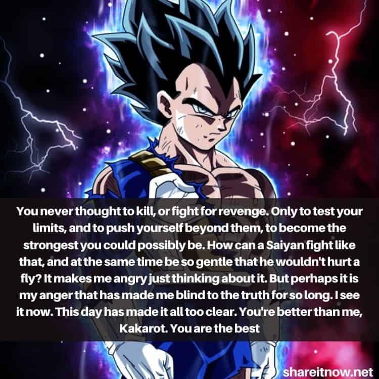 Vegeta quotes