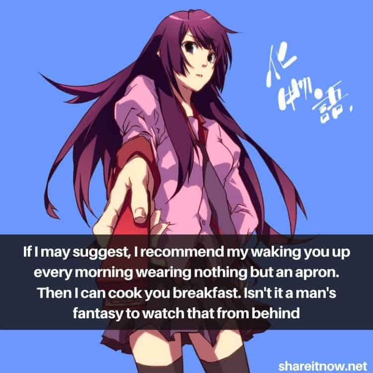 Senjougahara Hitagi quotes